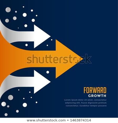 Ruchu naprzód arrow szablon finansów Zdjęcia stock © SArts