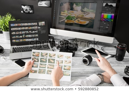 designer editing photo on computer stock photo © andreypopov