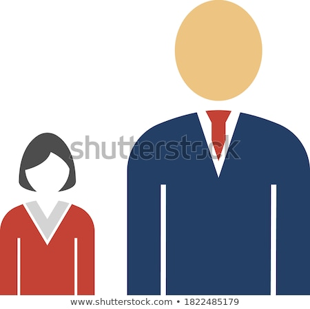 Lady Boss With Subordinate Icon Stock photo © angelp