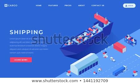 Import áru szolgáltatások leszállás oldal cég Stock fotó © RAStudio