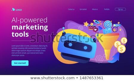 Marketing tools landing pagina trechter generatie Stockfoto © RAStudio