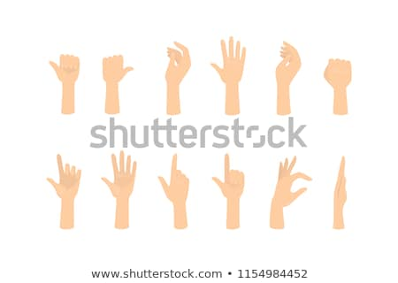 human palms holding gestures flat vectors set stock photo © robuart