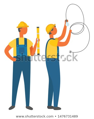 electric occupation electrician with tube vector stock photo © robuart