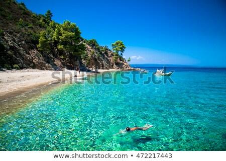 Paisaje costa mar Grecia península cielo Foto stock © borisb17
