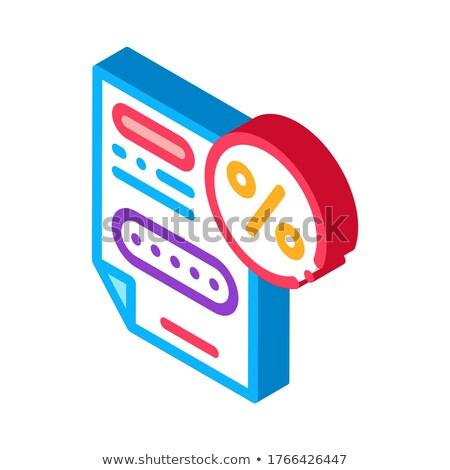 Prime pourcentage document isométrique icône vecteur Photo stock © pikepicture