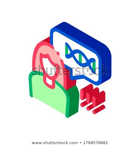 Kadın genetik izometrik ikon vektör imzalamak Stok fotoğraf © pikepicture