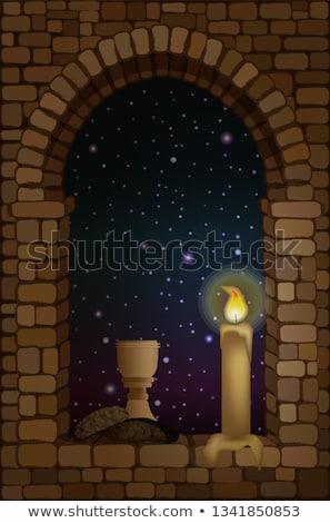 window arches at last light Stock photo © pancaketom