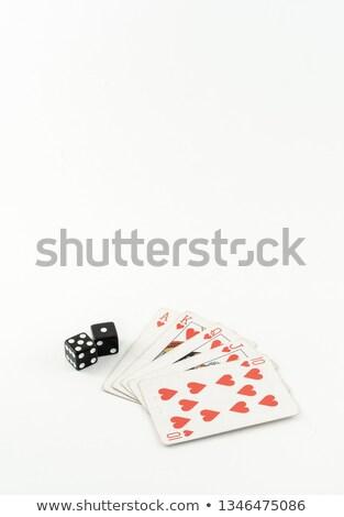 красный · Dice · стороны · игры - Сток-фото © devon