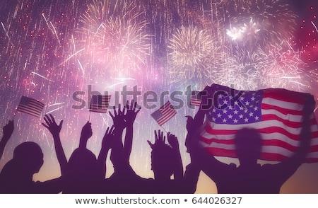 画像 2 アメリカン フラグ 単語 ストックフォト © damonshuck