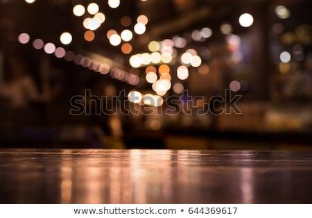 バー 木製 ツリー 手のひら レストラン ストックフォト © gant