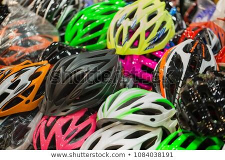 пару верховая езда велосипед цикл шлема Сток-фото © photography33