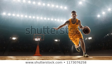 athlete dribbling basketball Stock photo © curaphotography