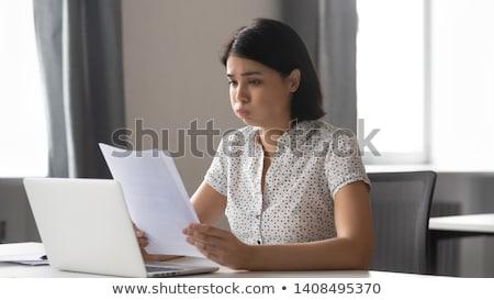 Kryzys zdesperowany działalności business woman człowiek smutek Zdjęcia stock © smithore