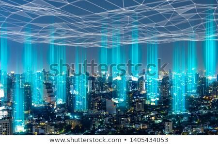 Mondial cellulaires réseau vecteur eps design Photo stock © mechanik