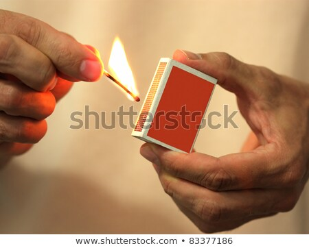 box of matches in the man hand stock photo © ozaiachin