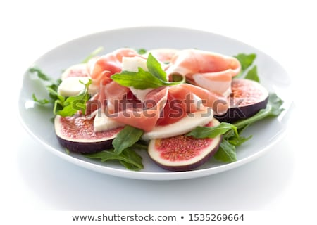 Stock photo: figs and cured ham