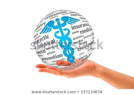 hand holding a caduceus sphere stock photo © kbuntu