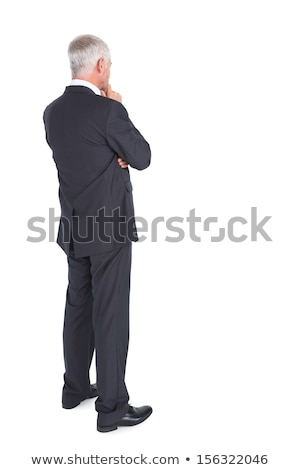 Curious grey haired businessman Stock photo © photography33