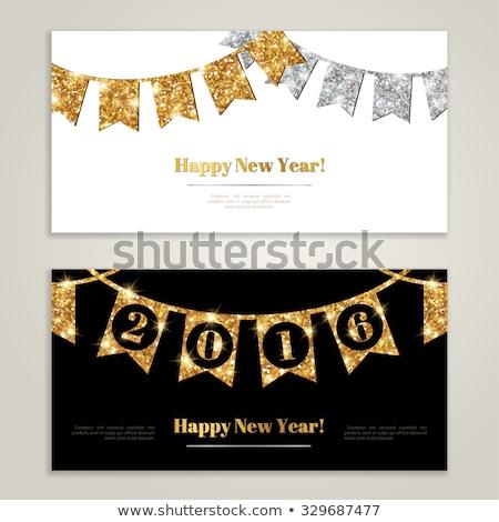 銀 フラグ 明けましておめでとうございます 赤 ギフトボックス 紙 ストックフォト © compuinfoto