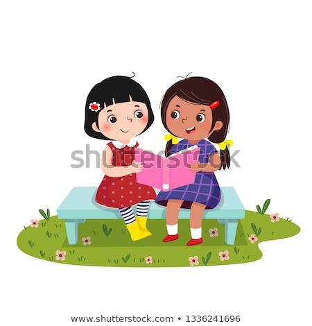 étudiant · deux · filles · étudier · ensemble · femme - photo stock © photography33