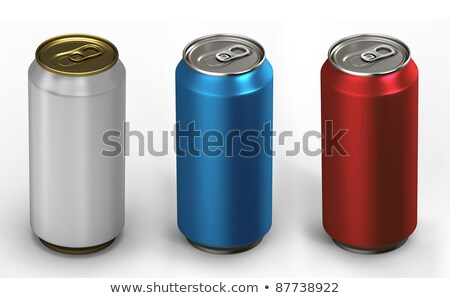 alumínium · üdítős · doboz · izolált · fehér · víz · bár - stock fotó © shutswis