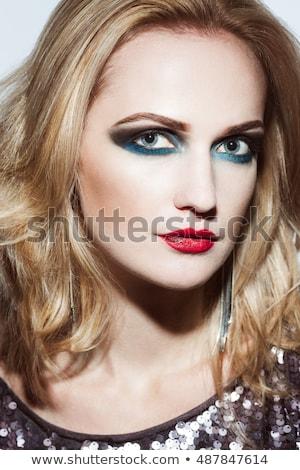 Donna up indossare vestito rosso faccia Foto d'archivio © wavebreak_media