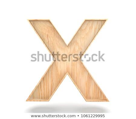 wooden alphabet - letter X Stock photo © ozaiachin