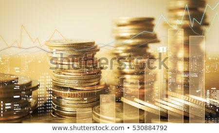 Stok fotoğraf: Ekonomik · büyüme · pound · madeni · para · büyüyen