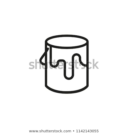 Vector icon paint can Stock photo © zzve