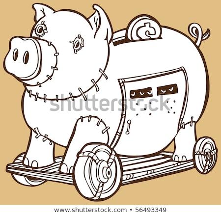 Troiano cavalo piggy bank imagem dinheiro banco Foto stock © cteconsulting