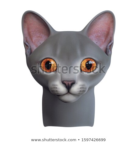 3d creature character in gray orange on white Stock photo © Melvin07