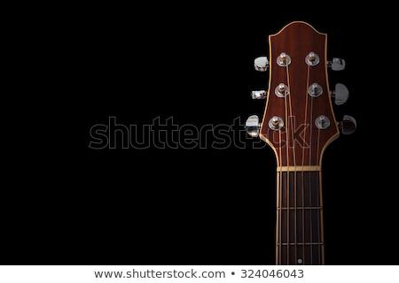 Akusztikus gitár részlet zsakett fa gitár test Stock fotó © italianestro