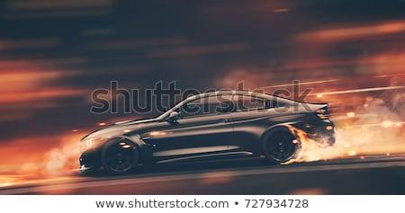 Modern spor sedan seçici renk kentsel Stok fotoğraf © ArenaCreative