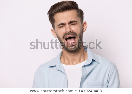 Comic character Man singing Stock photo © carbouval