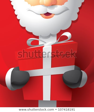 portrait of happy santa claus opening gift box stock photo © hasloo