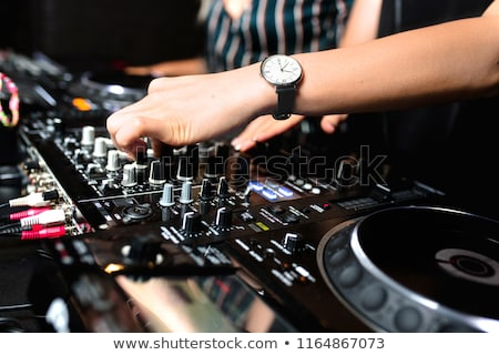Disc Jockey Girl Stock photo © derocz