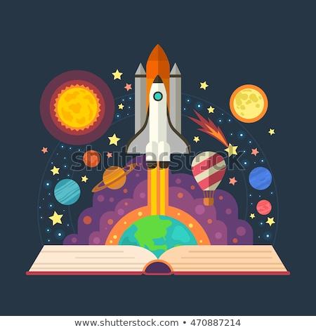 宇宙 図書 占星術の 図書 デザイン 芸術 ストックフォト © hanusst