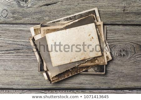 Хэллоуин · фотографий · древесины · бумаги · стены · кадр - Сток-фото © redpixel