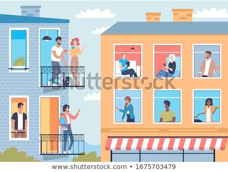 Windows and balconies Stock photo © badmanproduction