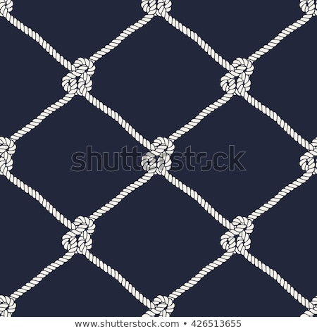 sailors knots and fishing net background stock photo © marimorena