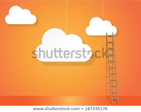Nube scala lavoro lavoro scale Foto d'archivio © graphit