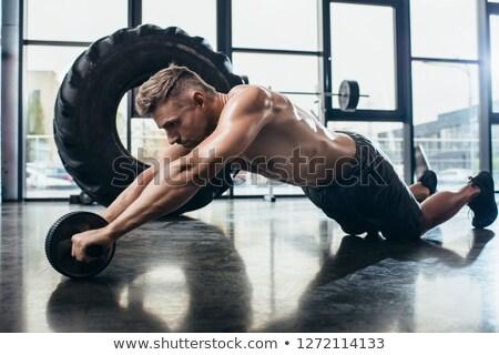 Muscular sportsman Stock photo © pressmaster