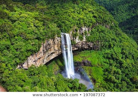View of Caracol waterfall - Canela City, Rio Grande do Sul - Bra Stock photo © meinzahn