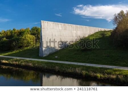 Marker at European Watershed Stock photo © backyardproductions