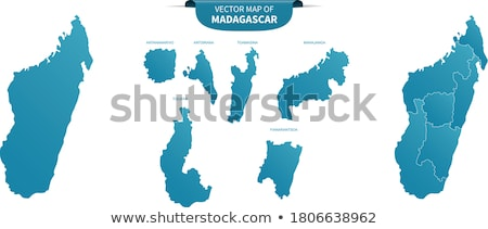 Silhouette carte Madagascar signe blanche Photo stock © mayboro