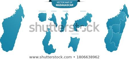 地図 · マダガスカル · 黒 · 行 · 世界中 · 抽象的な - ストックフォト © mayboro
