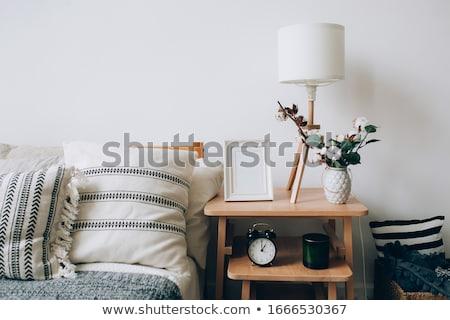 Accogliente camera da letto due classico luce Coppia Foto d'archivio © Hofmeester