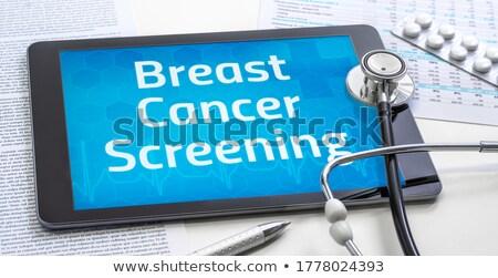 tumore · display · medici · tablet · diagnosi · nero - foto d'archivio © tashatuvango
