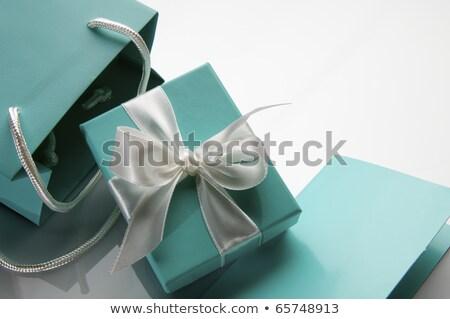 Zöld ékszer doboz közelkép Stock fotó © devon