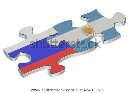 Argentyna rosyjski puzzle wektora obraz odizolowany Zdjęcia stock © Istanbul2009